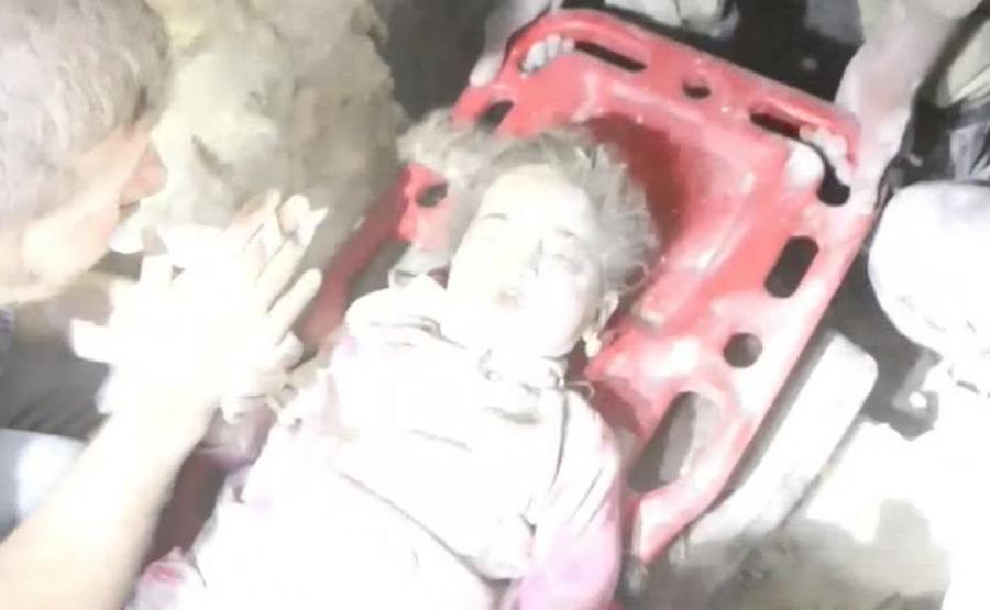 Uratowana dziewczynka