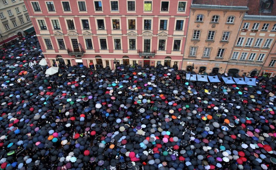 Protest na Placu Zamkowym