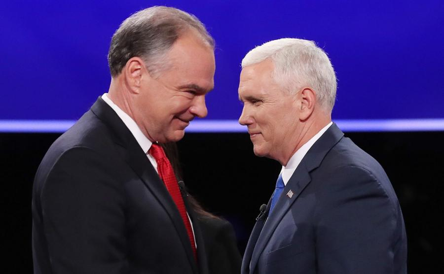 Mike Pence (P) i Tim Kaine (L)