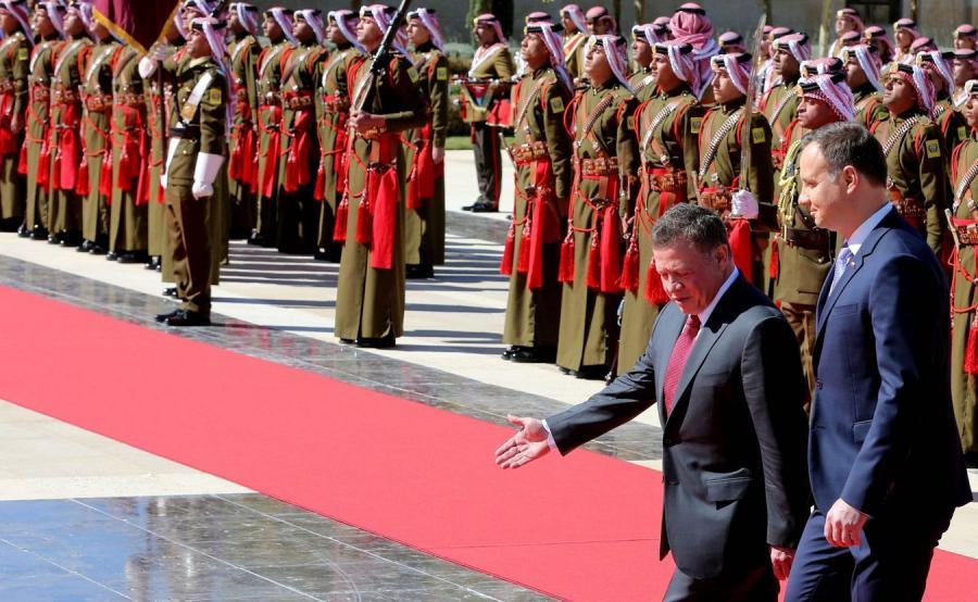Król Abdullah II i prezydent Andrzej Duda