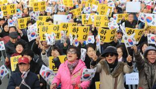 Wiec zwolenników prezydent Korei Północnej