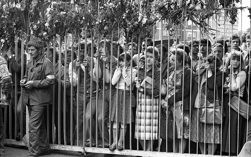 Strajk sierpniowy w Stoczni Gdańskiej im. Lenina / fot. Leonard Szmaglik