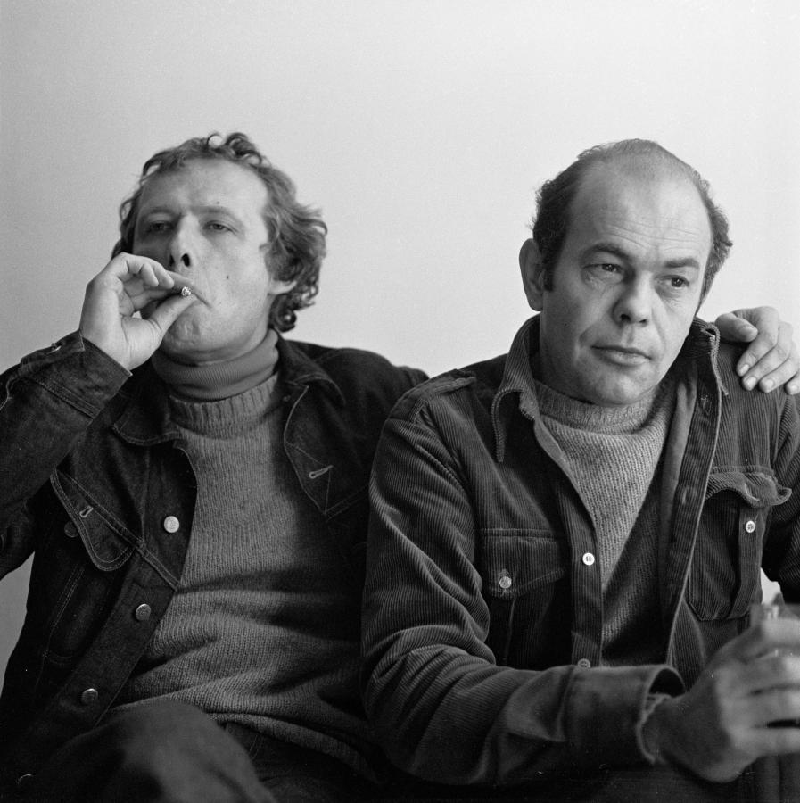 Adam Michnik i Jacek Kuroń, rok 1980