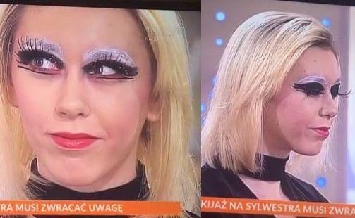 sylwestrowy makijaż w Pytaniu na śniadanie