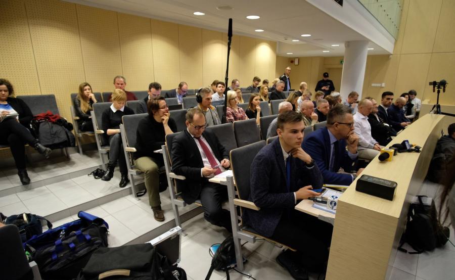 Dziennikarze na sali rozpraw