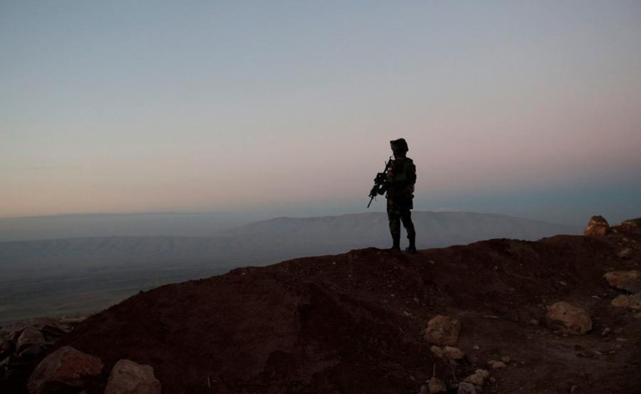 Kurdyjski bojownik w Iraku