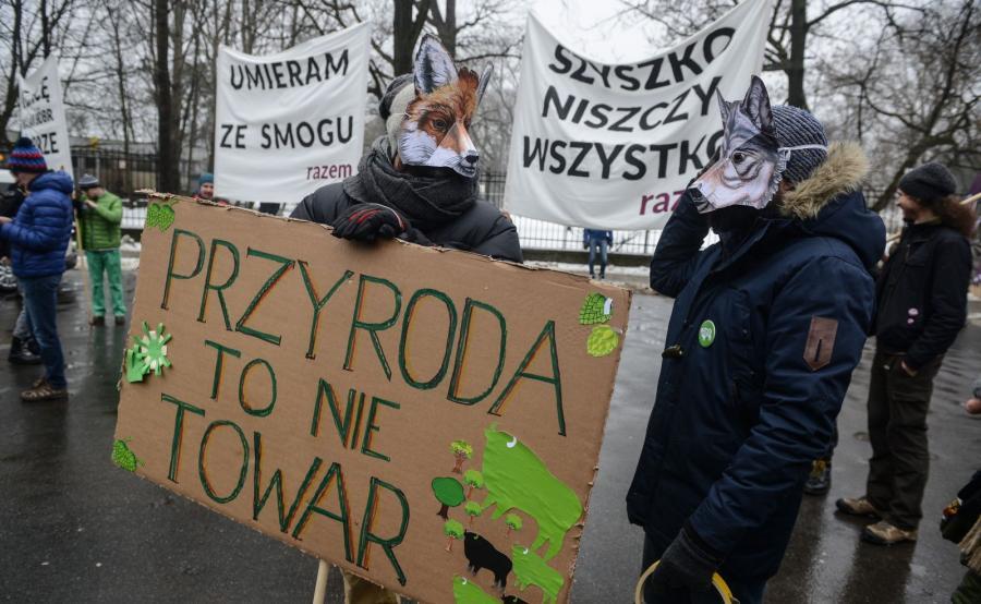 Warszawa. Marsz w obronie przyrody