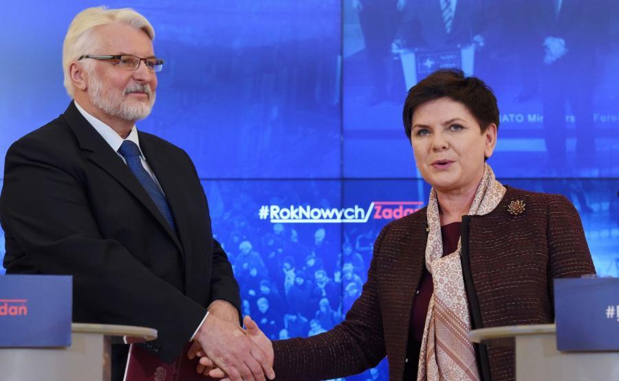 Beata Szydło i Witold Waszczykowski
