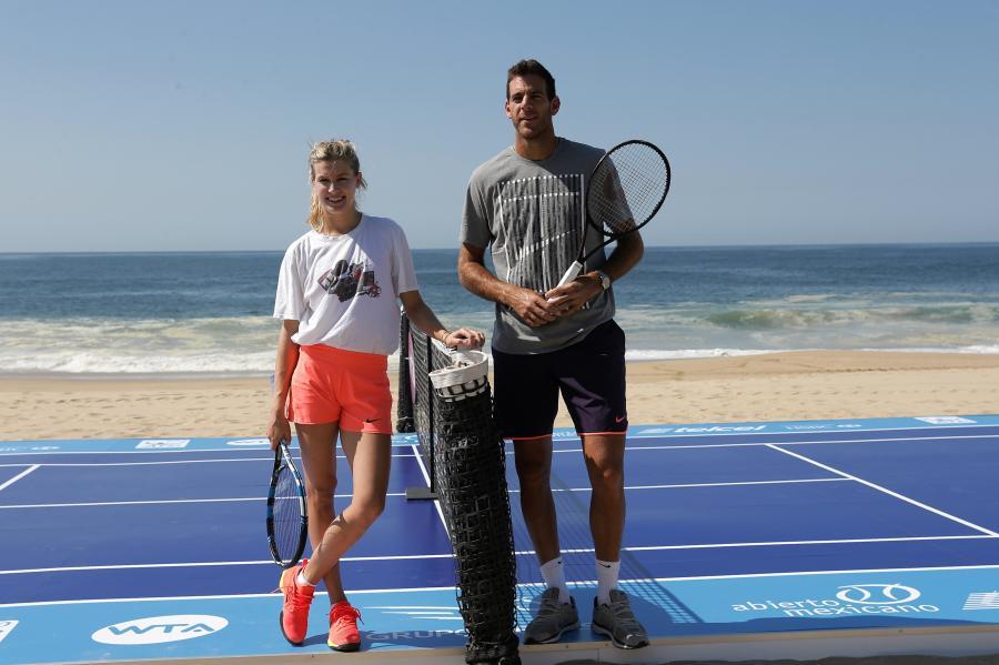 Eugenie Bouchard i Juan Martin del Potro promowali turniej w Meksyku